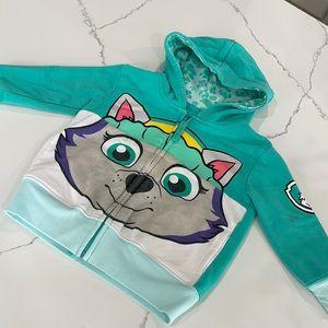 Paw Patrol zip up hoodie Everest